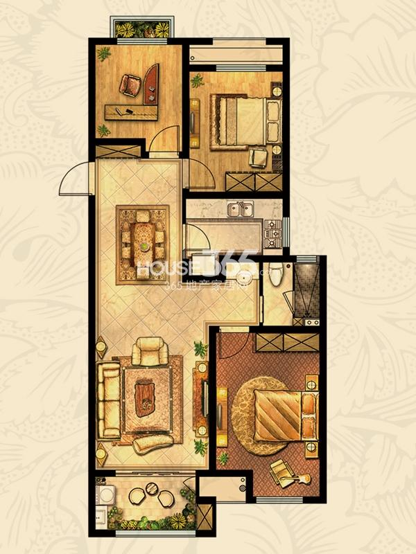 郁金香 3室2厅1卫