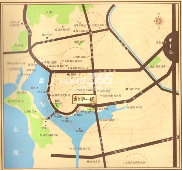 蠡湖一号交通图