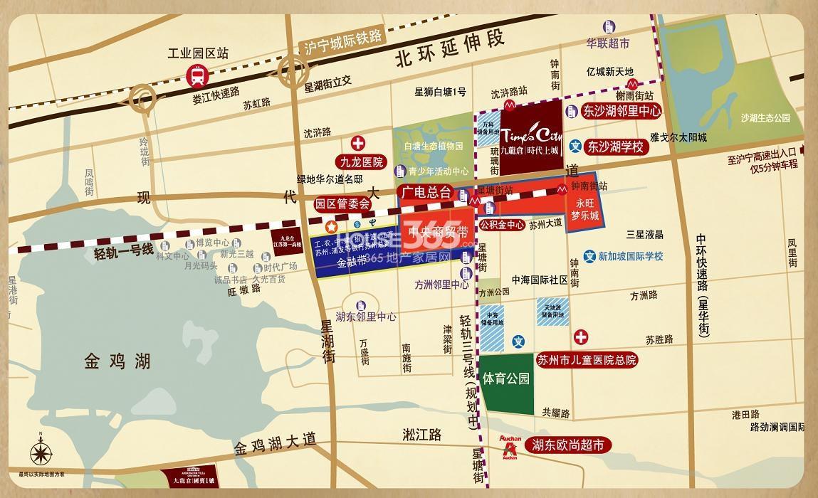 九龙仓三期年华里交通图