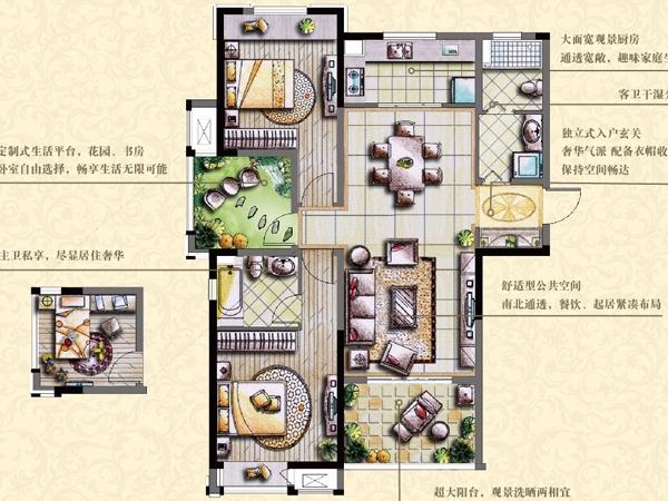 53、55# A 山茶花 (2+1)房2厅2卫