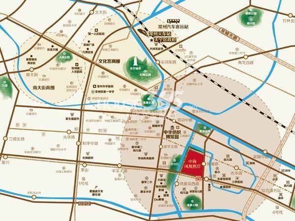 中海凤凰熙岸交通图