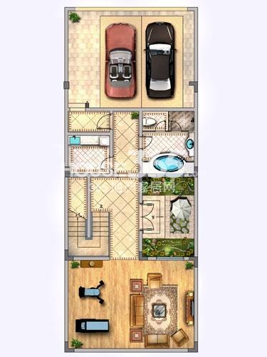 37#别墅中间户-地下一层