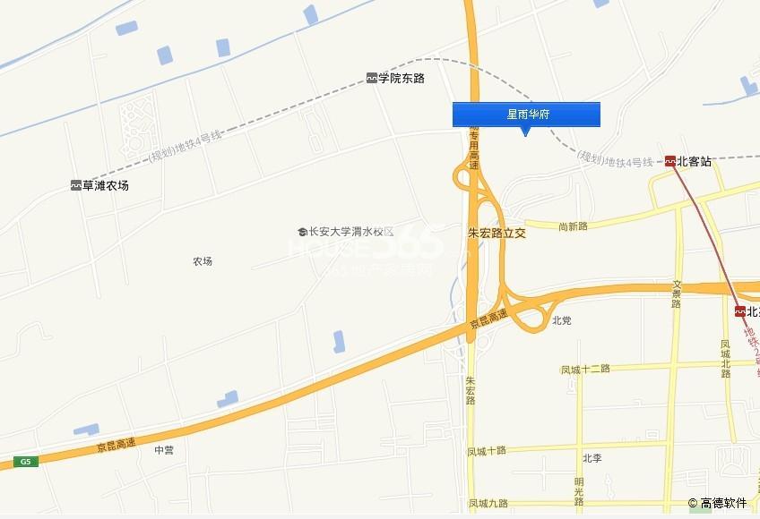 星雨华府交通图