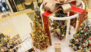 华润五彩城盒子里的圣诞