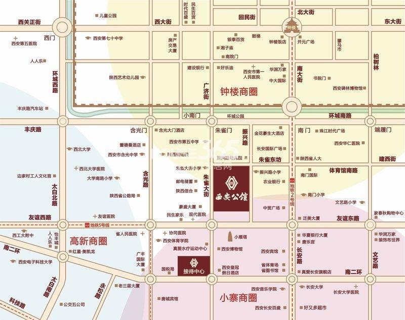 西安公馆交通图