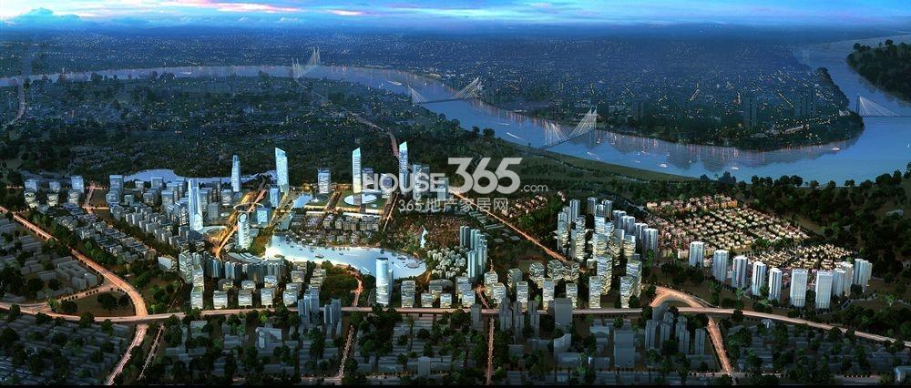 龙湖两江新宸鸟瞰图