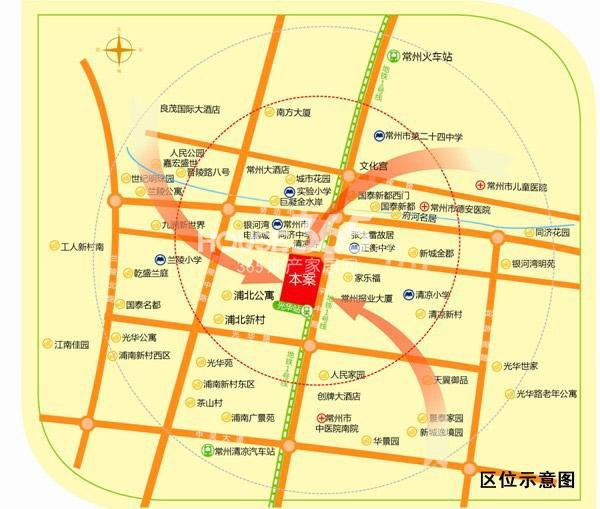 同济桥万都广场交通图