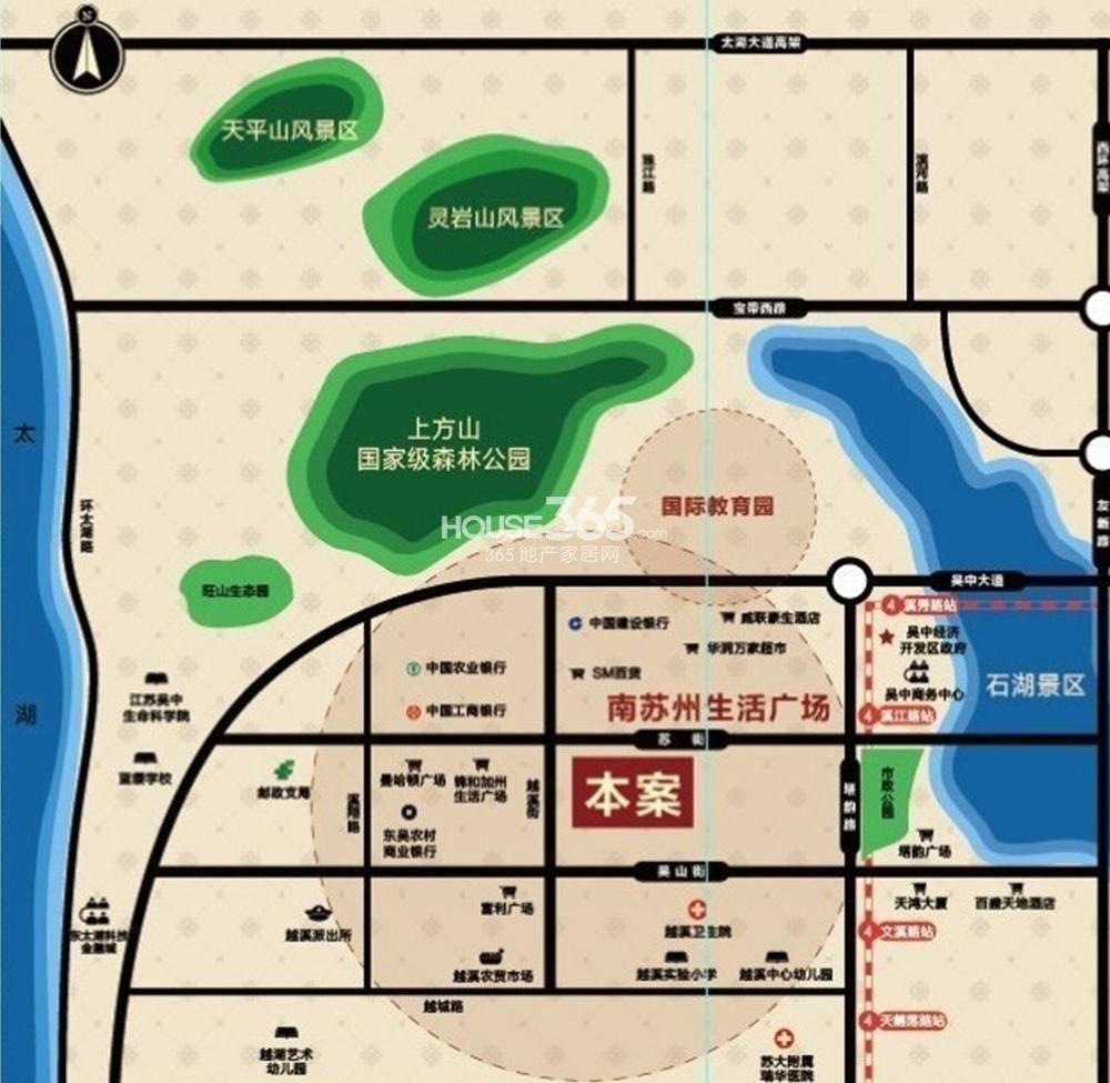 新城石湖公馆交通图