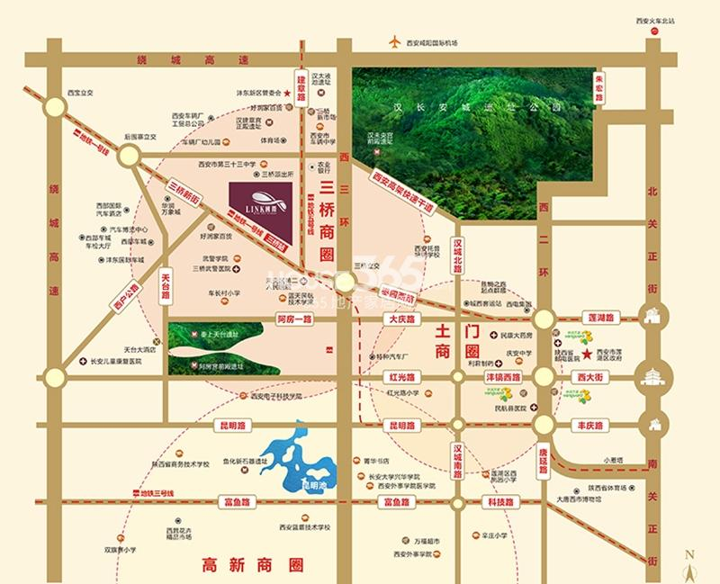 Link国际交通图