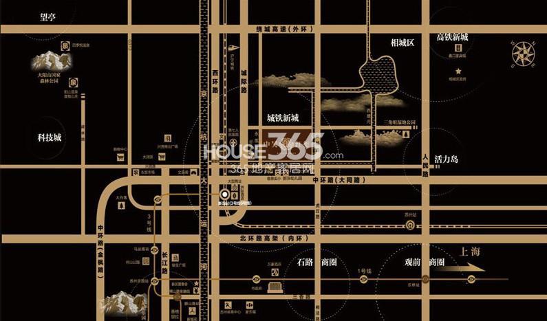中吴红玺御园交通图