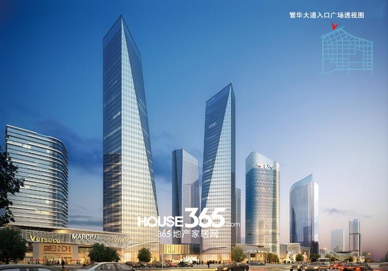 合肥华南城繁华大道入口透视图