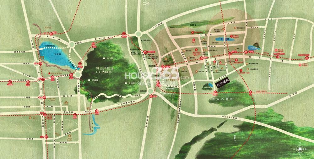 保利礼墅交通图