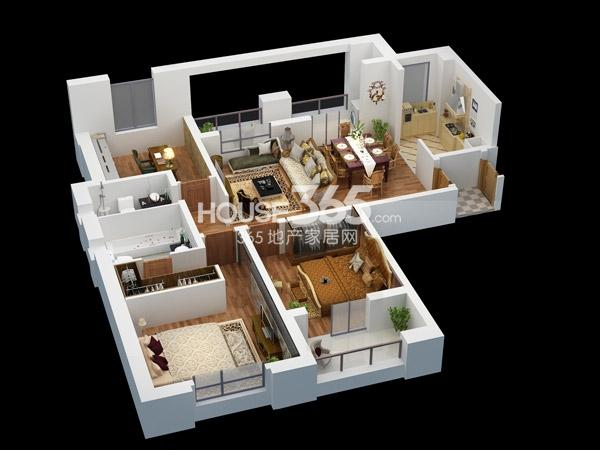 B1-约135平-3室2厅2卫
