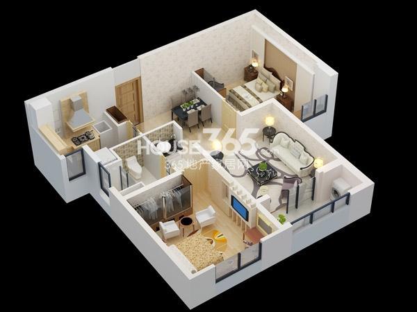 A-约85平-2室2厅1卫