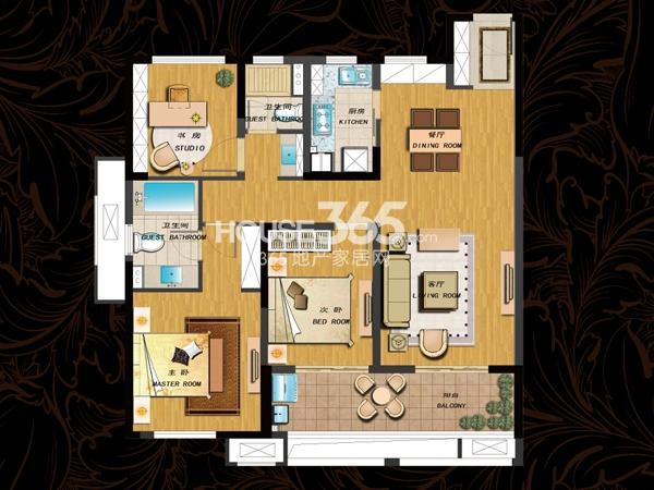 110平  三房两厅两卫
