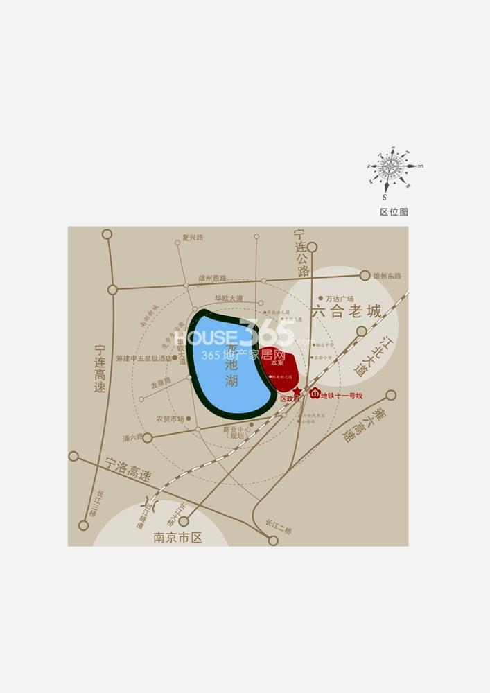 龙池翠洲交通图