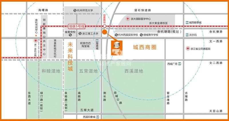 豪波西溪润景交通图