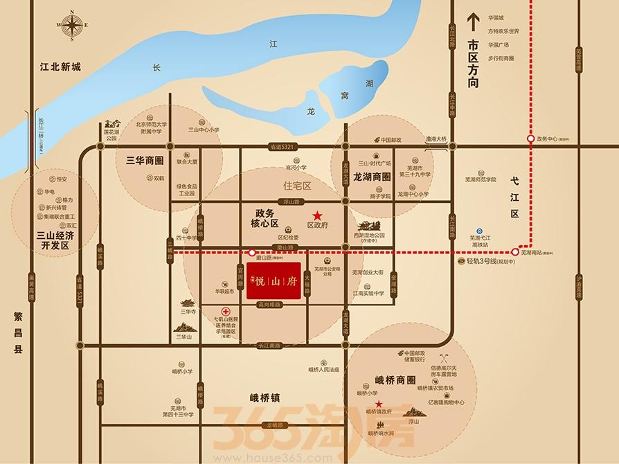 华强悦山府交通图