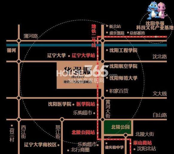 华强城交通图