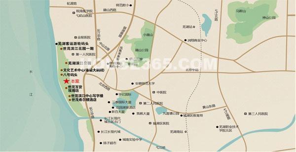 世茂滨江花园二期交通图
