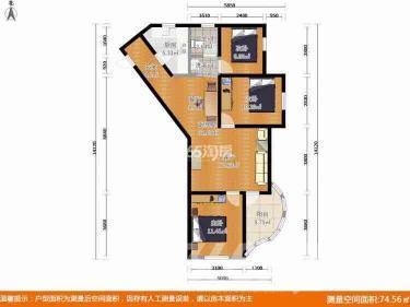 旭日爱上城创翼园3室2厅1卫108平米简装总价最低