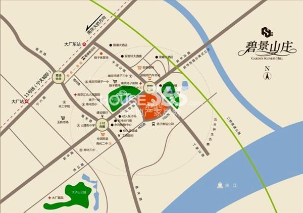 碧景山庄交通图