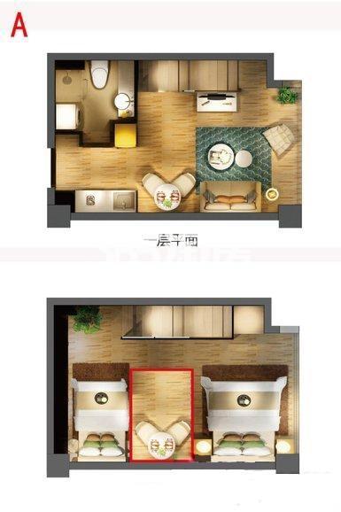 嘉丰万悦城酒店式公寓A户型40方