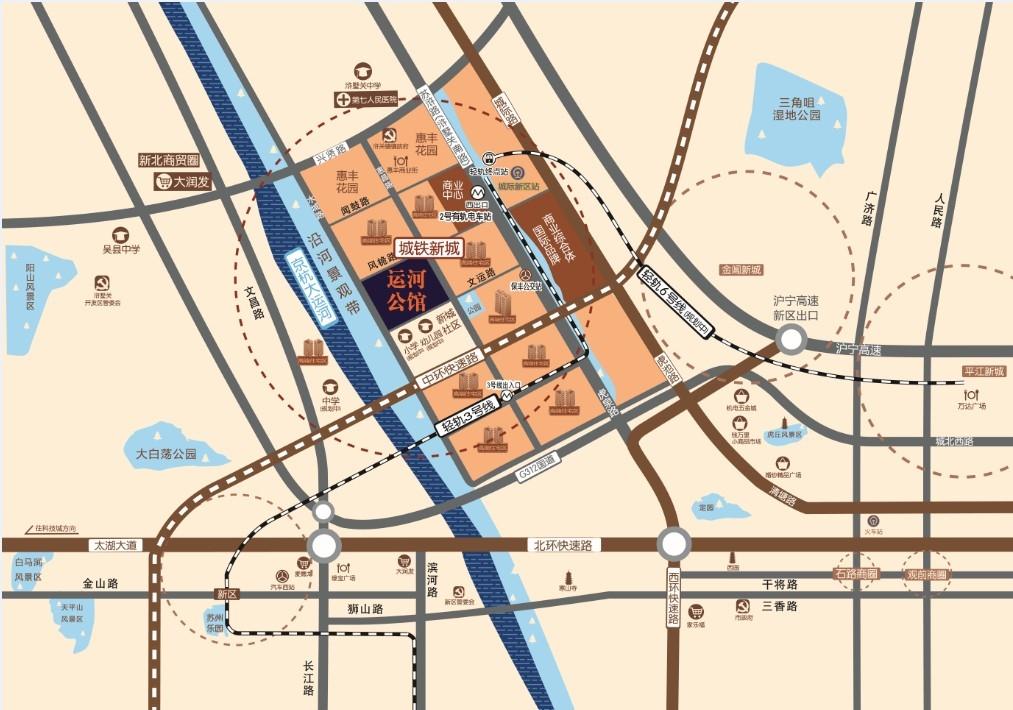 运河公馆交通图