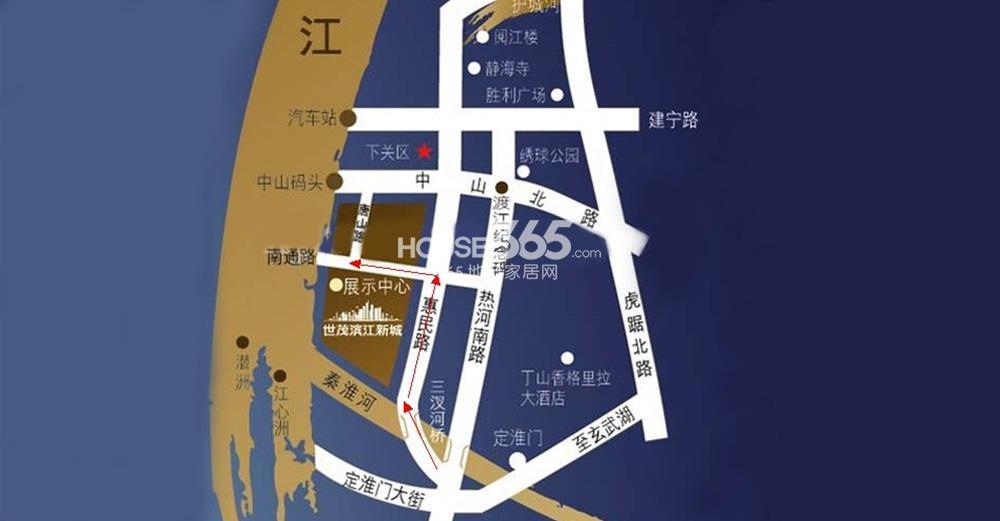 世茂外滩新城交通区位图