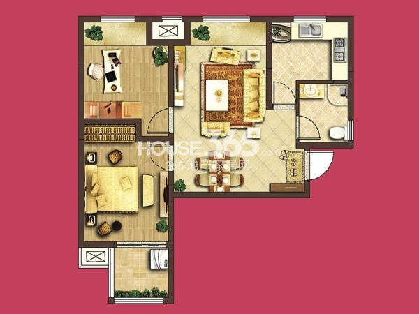 泰盈八千里D5#A1 2房2厅1卫 76平