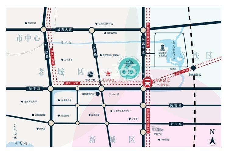 和平上东交通图