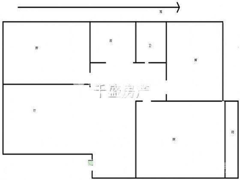 六合区雄州街道龙庭世家3室2厅户型图