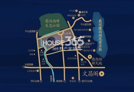 扬州天下花园交通图