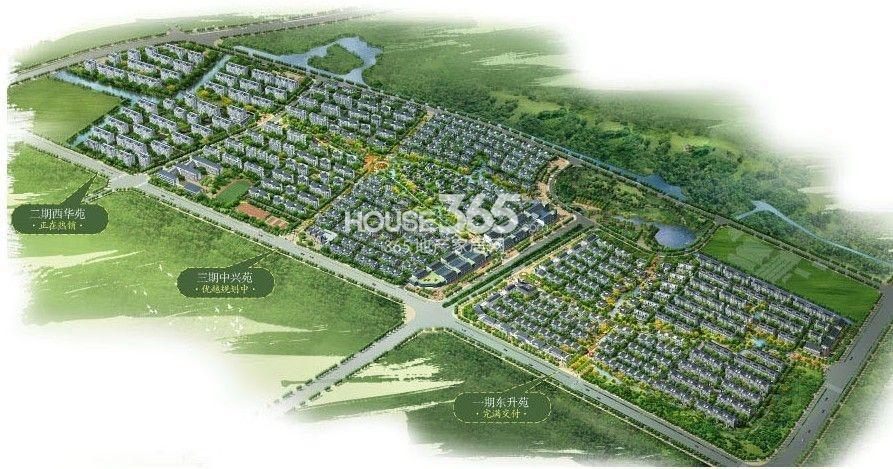 扬州天下花园鸟瞰图