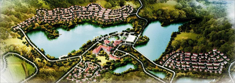 神山国际社区鸟瞰图