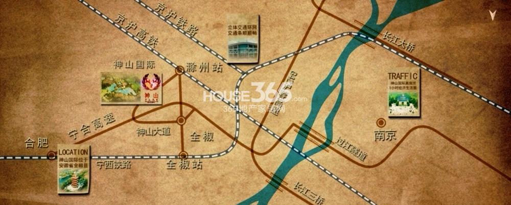 神山国际社区交通图