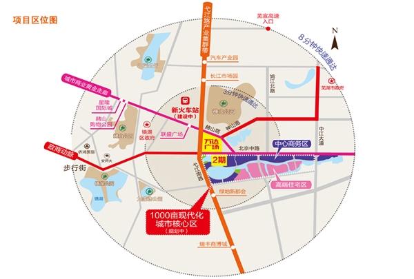 芜湖镜湖万达广场2期交通图
