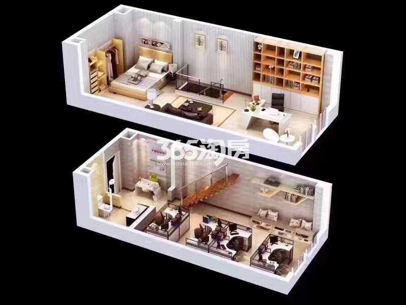 金科天籁城15#楼LOFT一室一厅一厨一卫45平方米