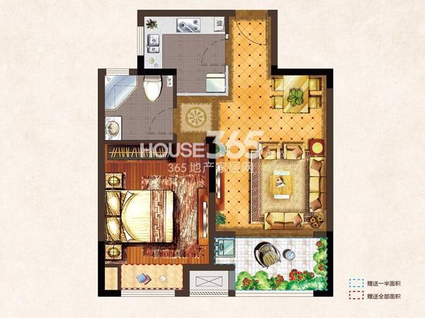 河枫御景A1-61.12平-1房2厅1卫