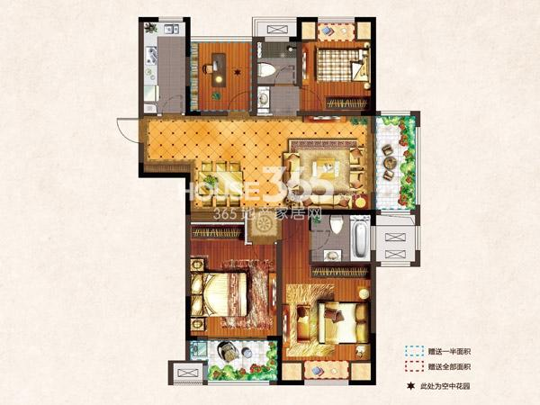 河枫御景D1-134.37平-3+1房2厅2卫