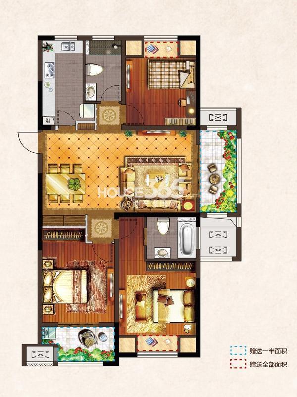 河枫御景C2-125.81平-3房2厅2卫