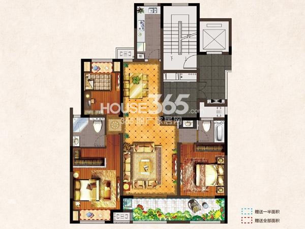 河枫御景C3-130.9平-3房2厅2卫