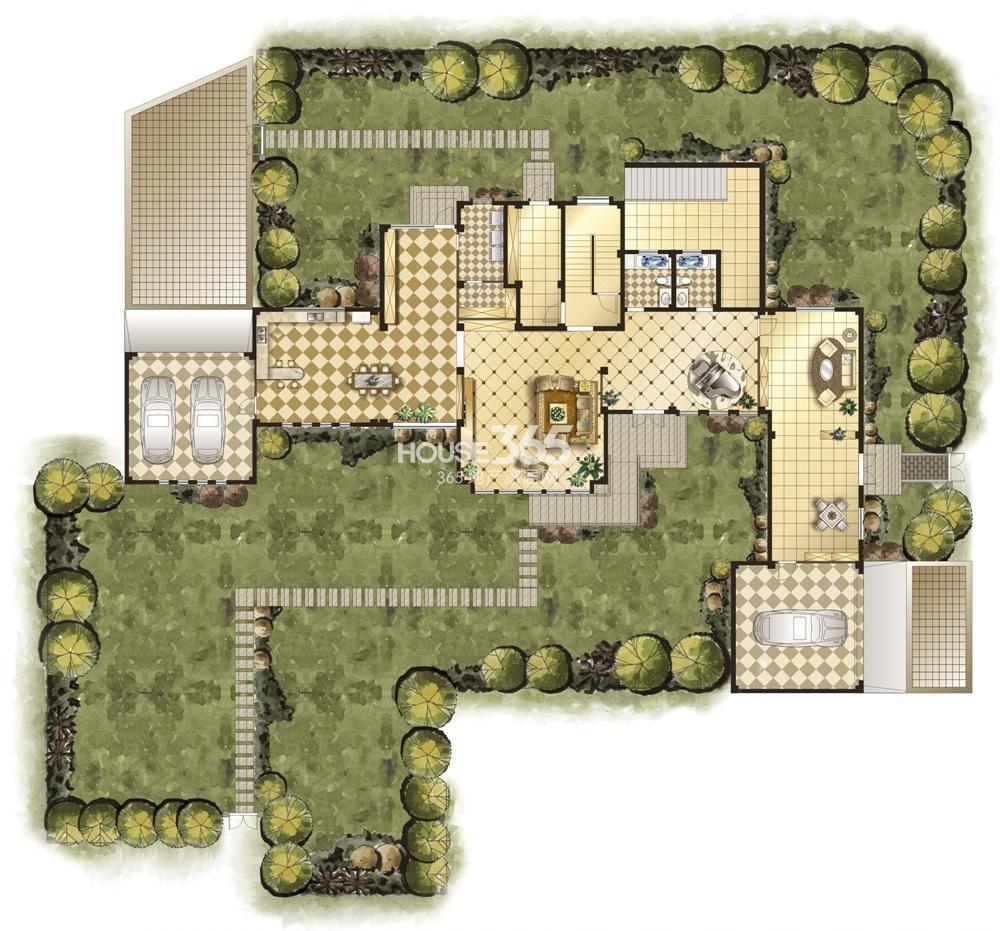 双银国际金融城25幢墅式会所户型 一层
