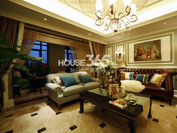 长泰国际社区190㎡样板间客厅实景图