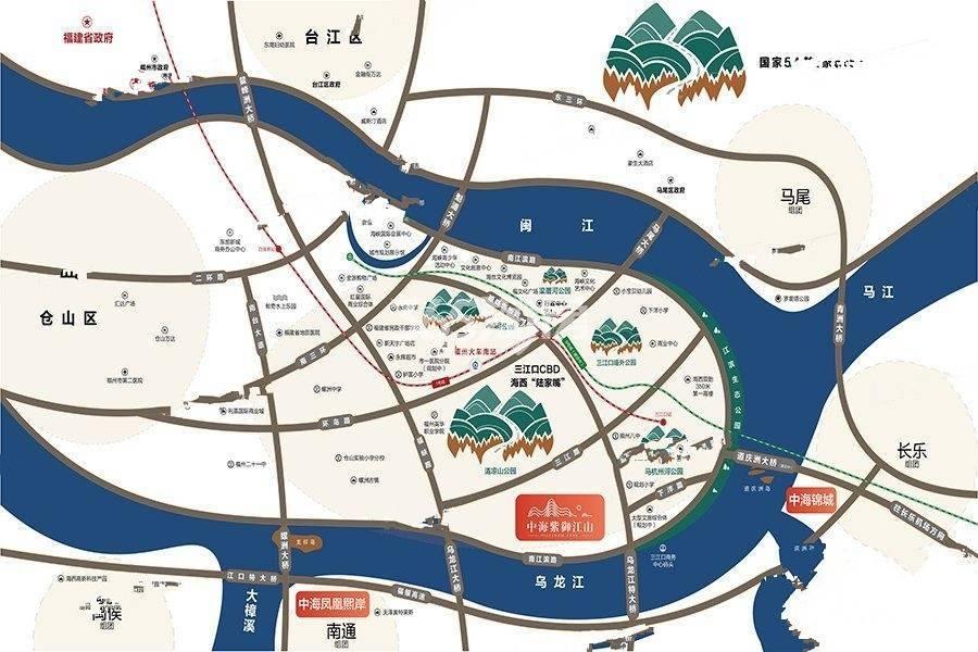 中海锦江城交通图