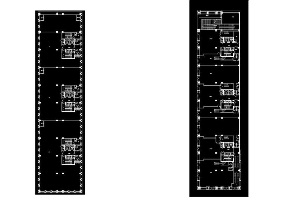 浙大网新双城国际独栋总部基地标准层3楼平面参考图