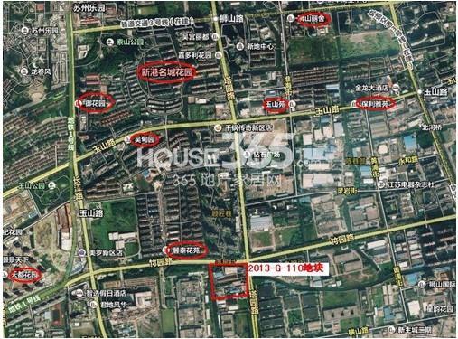 佳兆业竹园路地块卫星图