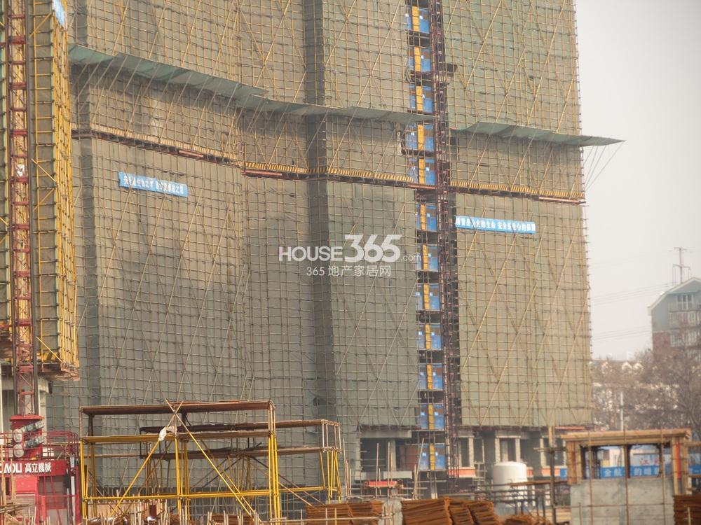 恒盛金陵湾在建楼栋实景图(1.25)