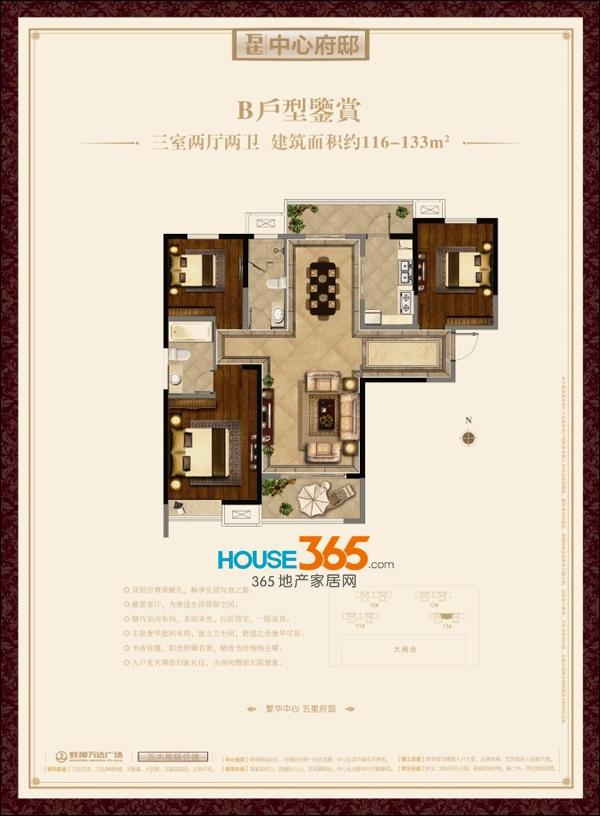 蚌埠万达广场B户型(116-133平米)