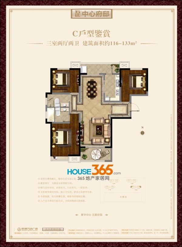 蚌埠万达广场C户型(116-133平米)